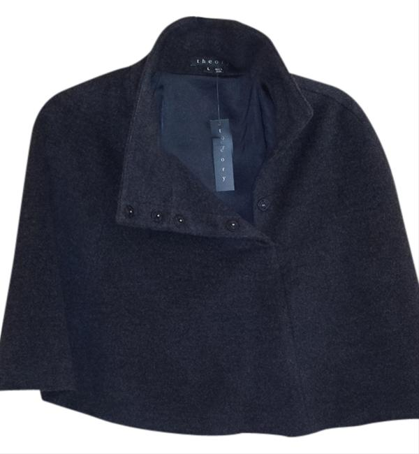 Preload https://item4.tradesy.com/images/theory-charcoal-ponchocape-size-12-l-1480198-0-0.jpg?width=400&height=650