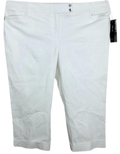 Style & Co Plus Size Tummy Control Stretchy Capris White