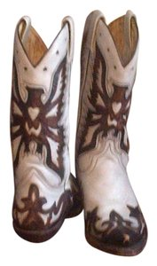 SENDRA Cowboy Leather Vintage BROWN & IVORY/CREME Boots