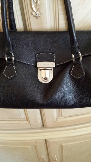 Prada Satchel in black leather