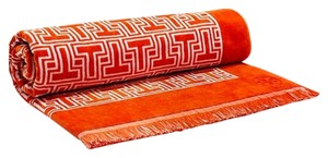 Tory Burch T Tile Towel orange