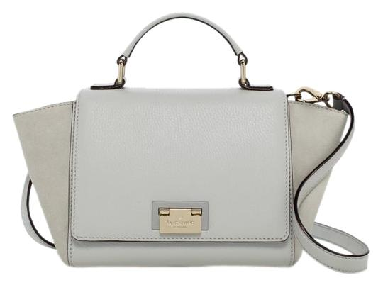 Preload https://item3.tradesy.com/images/kate-spade-magnolia-small-laurel-grey-light-blue-pebbled-leather-and-suede-satchel-1480307-0-2.jpg?width=440&height=440