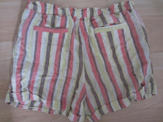 Anthropologie Casual Holiday Striped Print Hamptons Fun Gift Cuffed Shorts Multi-color