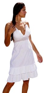 Lirome short dress White Crochet Boho on Tradesy