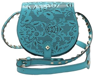 Rebecca Minkoff Sea Glass Skylar Leather Blue Gree Cross Body Bag