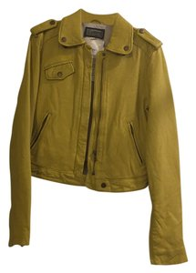 Current/Elliott Light olive yellow Leather Jacket
