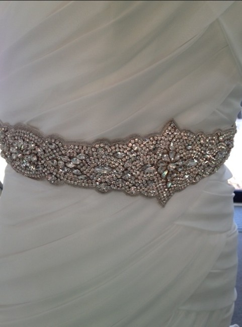 Item - White Swarovski Belt Sash