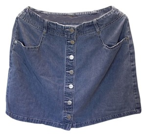 Karen Kane Made In The Usa Denim Mini Skirt Denim/Jeans