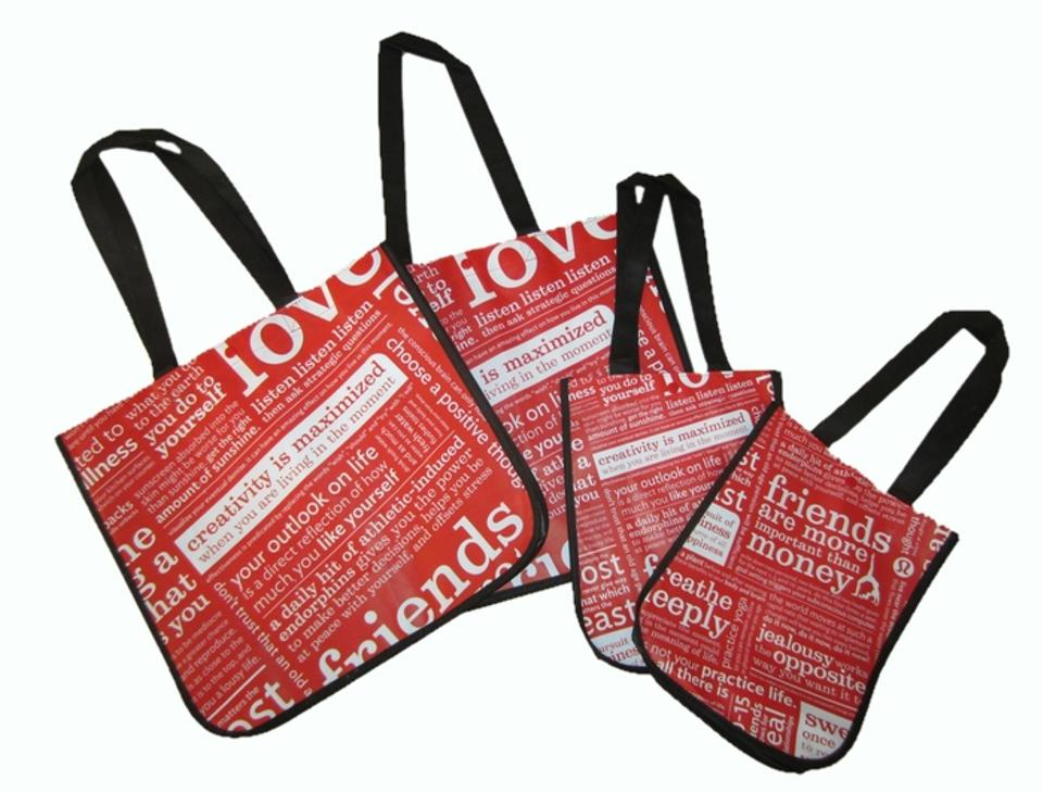 9729254477a0 Lululemon Yoga Namaste Recyclable Reusable Gogreen Travel Gym Workout  Vinyasa Tote in Red