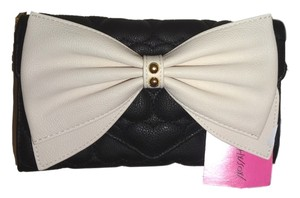 Betsey Johnson Quilted Heart Wallet Cross Body Bag