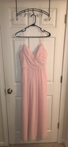 Jim Hjelm Occasions Blush Jim Hjelm Occasions Draped V-neck A-line Chiffon Gown Dress