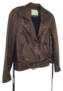3.1 Phillip Lim Motorcycle BROWN Leather Jacket