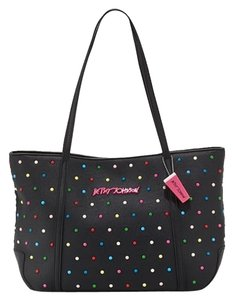 Betsey Johnson Candy Dots Tote in black