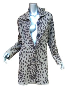 Other Leopard Shall Wrap Coat Cardigan