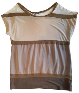 Express Gold Shirt Sexy Party Brown Top
