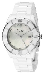 Kate Spade KATE SPADE White Ceramic Mother Of Pearl Dial Watch 1YRU0773 NEW $295