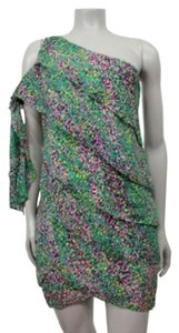 BCBGMAXAZRIA short dress Prism Pink Combo Bcbg Summer Floral Cocktail on Tradesy