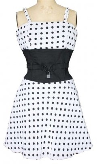 Preload https://item3.tradesy.com/images/tripp-nyc-black-and-white-polka-dot-goth-50-s-style-vintage-chiffon-knee-length-night-out-dress-size-148057-0-0.jpg?width=400&height=650