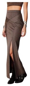 Free People Maxi Skirt Brown gold bronze