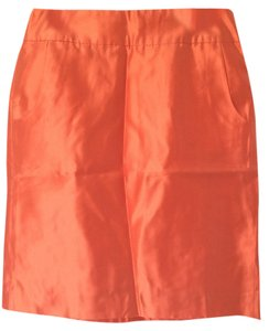 J.Crew Skirt Dark Orange Metallic