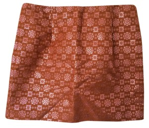 J.Crew Mini Skirt Dark Orange Multi
