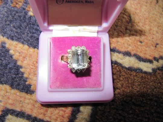 Other Antique/estate Aquamarine & diamond ring