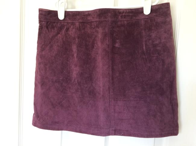 bebe Mini Skirt Purple Suede