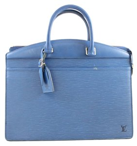 Louis Vuitton Lv Leather Epi Satchel in Blue