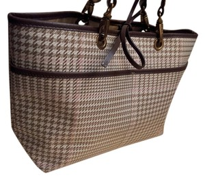 Ralph Lauren Tote in Plaid Houndstooth