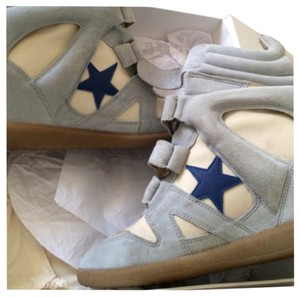 Isabel Marant Powder Blue/ Blue/white Wedges