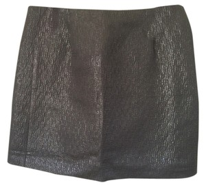 J.Crew Mini Skirt Black Metallic