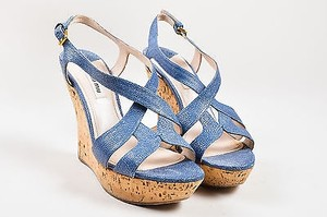 Miu Miu And Beige Blue Sandals