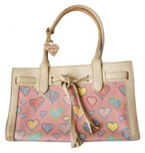 Dooney & Bourke Hearts Handbag Purse Baguette