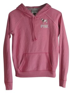 PINK by Victoria's Secret Peace Sign Graphic Metallic Hoody Pockets Warm Sweatshirt