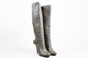 Chlo Chloe Smoke Leather Gold Gray Boots