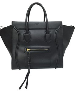 Céline Phantom Calfskin Tote in black