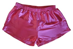 American Apparel Fuschia Pink Aa Satin Fun Mini/Short Shorts Hot Pink