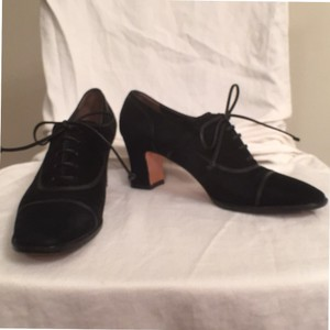 Salvatore Ferragamo Suede Leather Trim Aaa Black Pumps