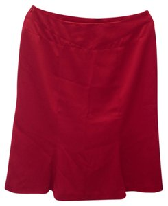Bob Mackie Fully Lined Skirt Red