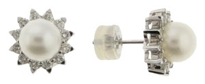 18k White gold Diamond and Pearl Earrings - MUST HAVE - WHOLESALE
