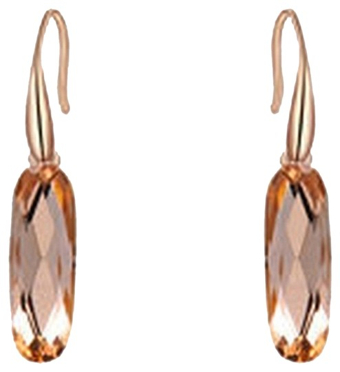 Other Rose Gold, Beautiful, Champagne, Austrian Crystal Earrings
