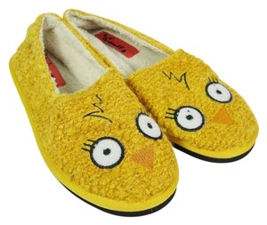 Red Wolf Furry Slipper. Warm And Cozy Bed Yellow Boots