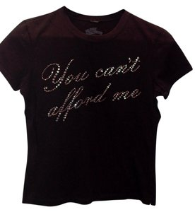 Planet Hollywood Glitter 100% Cotton T Shirt Black