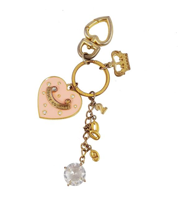 Item - Gold Pink Golden Key Chain Fob Ring