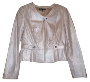 David Meister Frosted Leather Jacket