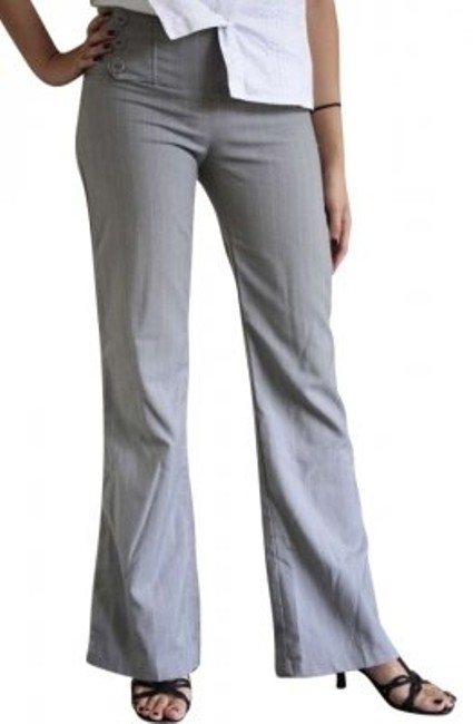 Other Pinstripe Dress Boot Cut Pants Grey