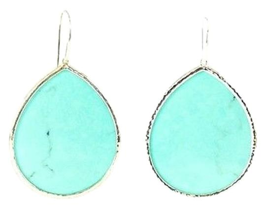 Ippolita IPPOLITA Sterling Silver Turquoise Large Teardrop Earrings Dangle Hook .925
