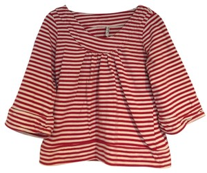 Old Navy Top Red cream white