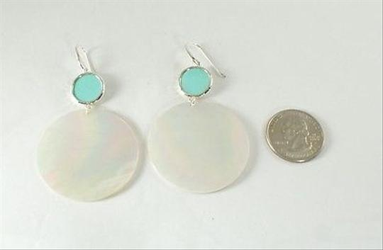 Ippolita IPPOLITA Sterling Silver Mother of Pearl Turquoise Large Snowman Drop Earrings