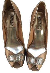 Badgley Mischka Nude, rose gold, gold Formal